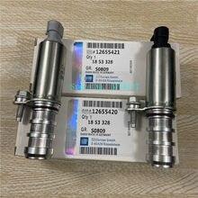 1 conjunto de admissão & escape válvula de sincronização de controle de óleo solenóide vvt oem #12655420 & 12655421 para chevrolet-captiva equinox gmc-terreno