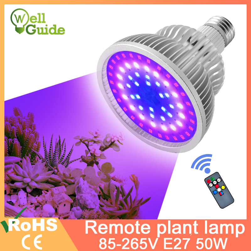 LED Grow Light E27 LED Lamp Full Spectrum 4W 3W 50W 80W AC85-265V Indoor Plant Lamp IR UV For Flowering Hydroponics System
