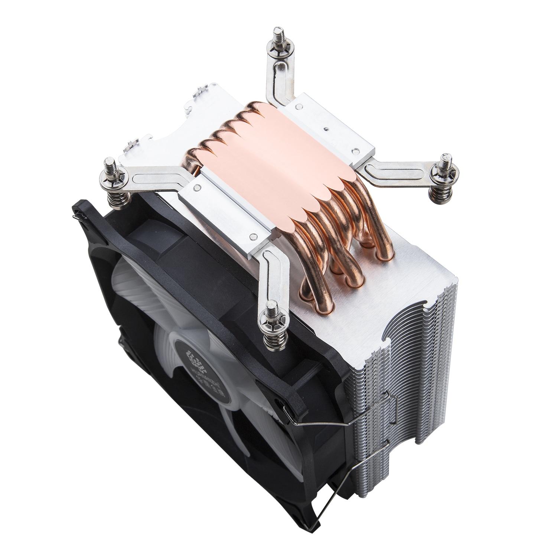 cobre led cpu cooler ventoinha de resfriamento