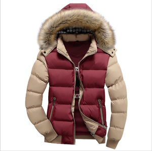 Image 4 - 2020 Men Winter Coat Warm Fleece Down Jacket 9 Color New Fashion Fur Hood Hat Men Outerwear Casual Mens Coats Thick Hoodies 4XL
