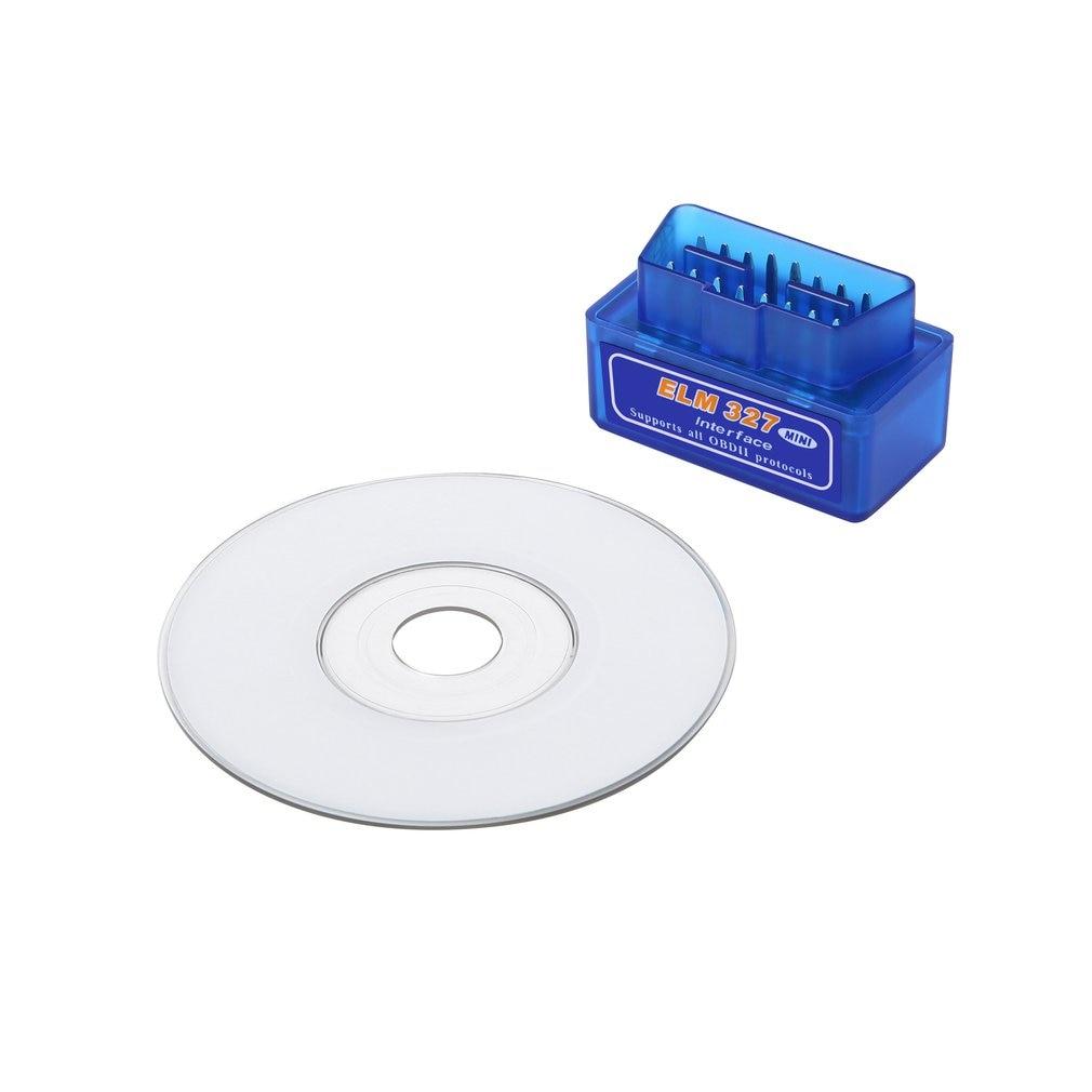 Mini Portable ELM327 V2.1 OBD2 II Diagnostic Car Auto Interface Scanner Blue Premium ABS Diagnostic Tool