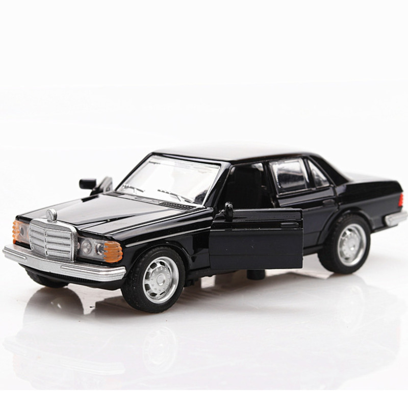 1/36 Boxed Simulation Model Car Toy Mercedes Benz E-class W123 Classic Car Retro Cars Pull Back Bugatti Model 2 Doors Opened