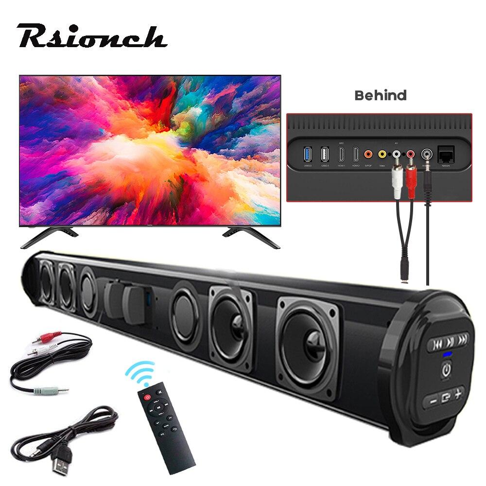 Column Powerful Home Theater TV Sound Bar Speaker Wired Wireless Bluetooth Surround Soundbar for PC TV Outdoor Speakers Remote