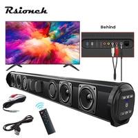 Columna de altavoz potente para cine en casa, barra de sonido inalámbrica Sonido de TV con cable, Bluetooth, envolvente, para PC, TV, altavoces remotos para exteriores