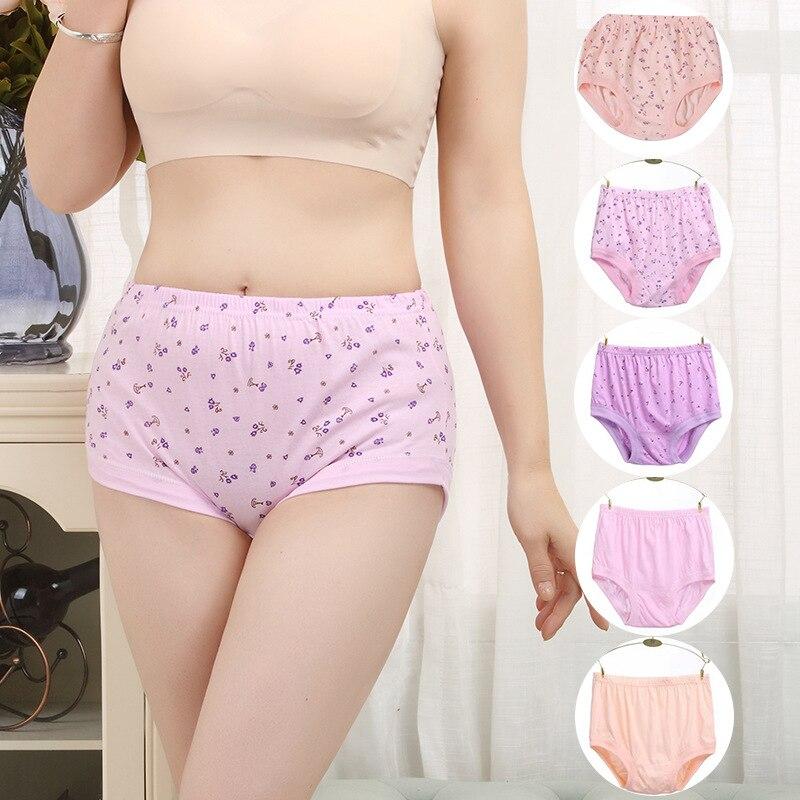 3pcs one lot mix 3 colors plus size  Plus Size Intimates Cotton Panties Women Underwear 1387