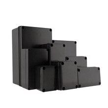 Черный цвет, водонепроницаемый пластиковый корпус, электронный корпус, чехол для инструментов, Электрический проект, наружная распределительная коробка 200*120