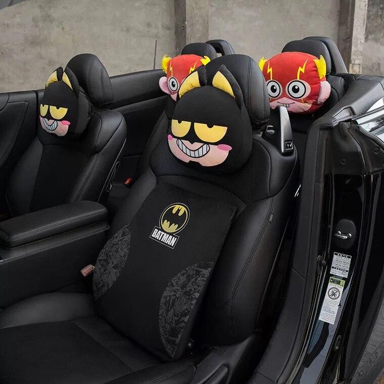 1Pc Headrest Creative neck pillow car decoration batman stuffed pillow cushion