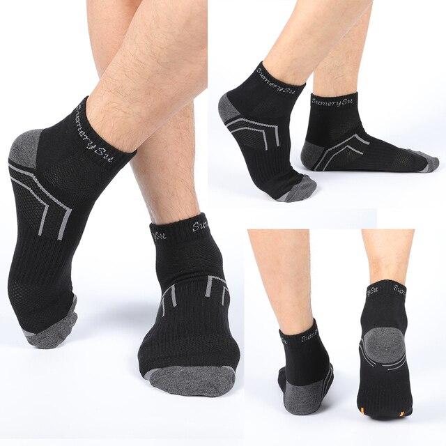 Мужские носки спортивные,хлопок дышащие с материалом против пота 4