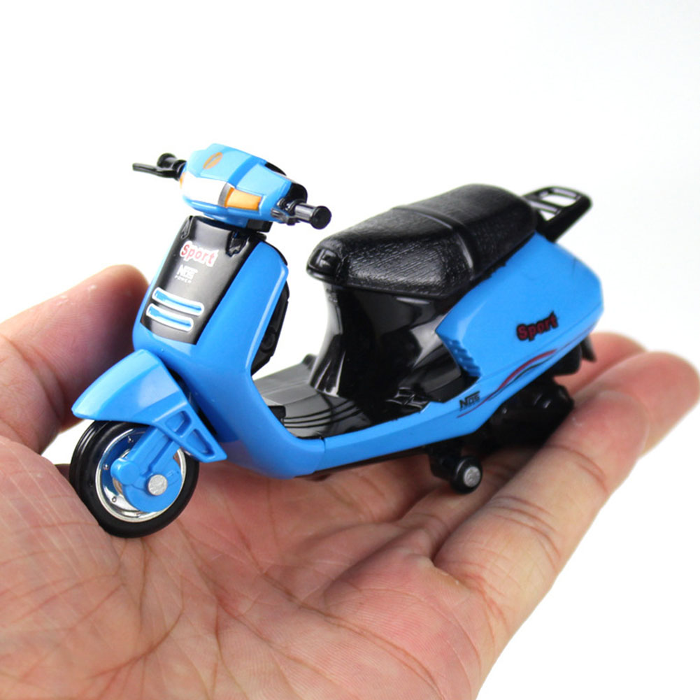 1/18 Metal <font><b>Diecast</b></font> Motorcycle <font><b>Car</b></font> <font><b>Model</b></font> Children Kids Gifts Birthday Mini Collection Hobby Fun Simulation Educational Toy Child image