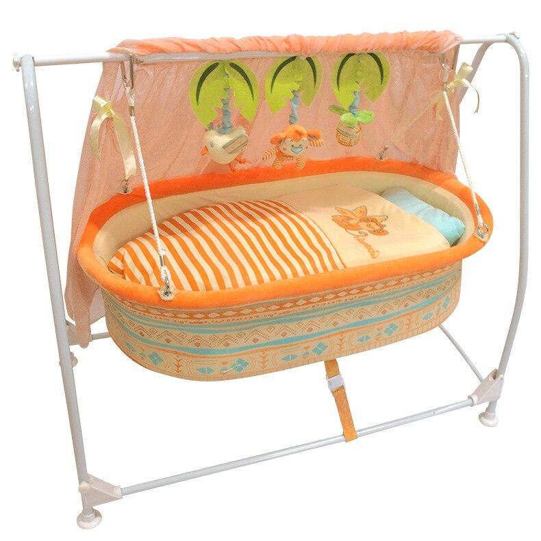Детская кроватка новая детская люлька Колыбель качели кровать с музыкальным пультом дистанционного управления детская кроватка