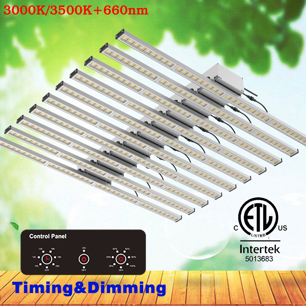 10Bars Bluetooth Dimming Quantum Led Grow Light Bars Samsung LM301B Full Spectrum 3000K Mix 660nm For Greenhouse Veg And Flower