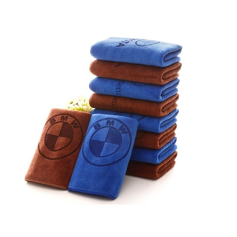 Microfiber Car Logo Towel Car Wash Clean Towel For BMW M3 M5 M6 E46 E90 E60 E39 E36 E87 E92 E91 E34 F30 F20 F30 Car Accessories