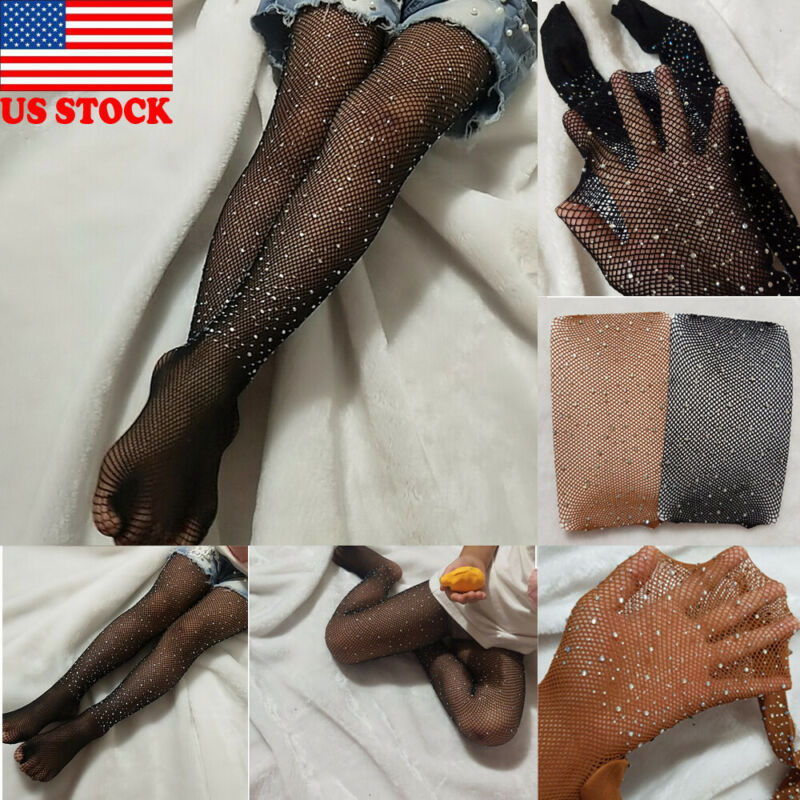 Fashion Girls Rhinestone Mesh Net Tights Pantyhose Stocking And Hold-ups For Children Gril Summer New Hot Sale Hosiery Pantyhose