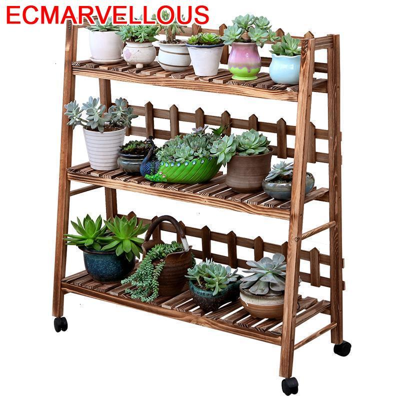 Estanteria Para Macetas Scaffale Porta Piante Etagere Plante Wood Outdoor Flower Stojak Na Kwiaty Rack Dekoration Plant Stand