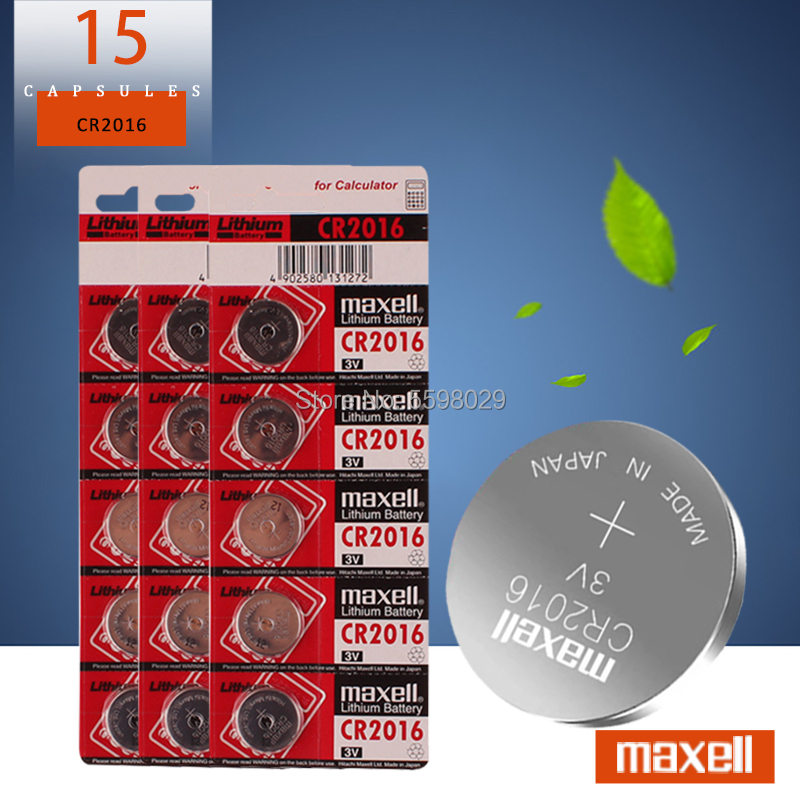 15 шт. для maxell оригинал высокое качество литиевая батарея 3V cr2016 Кнопка батарея часы монета батареи cr 2016 DL2016 ECR2016