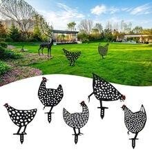 Galinha quintal arte galinha decoração do jardim ornamentos frango família jardim estátuas quintal gramado estacas frango quintal decoração quintal presente