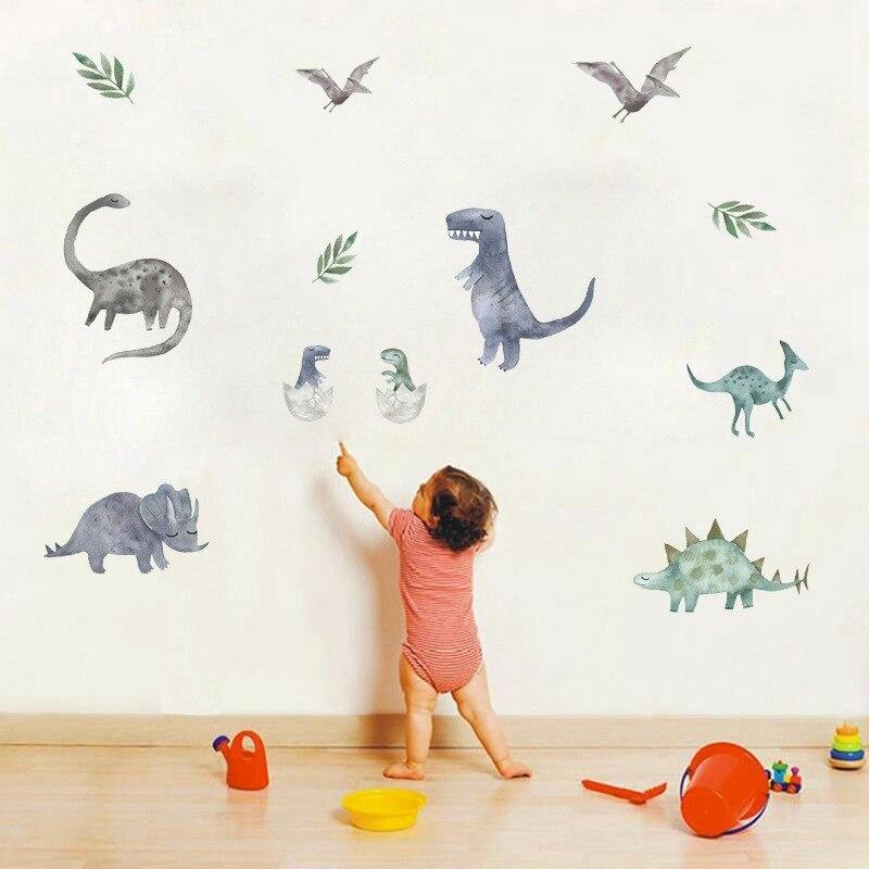 3d Dinosaur Wall stickers Home Decor Cartoon Living Room Jurassic Period Animal Print Decal For Wall Decor Art Mural Stickers