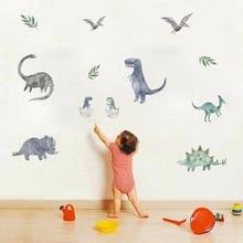 Decal Stickers Art Mural Wall-Decor Animal-Print Jurassic 3d Dinosaur Living-Room Cartoon