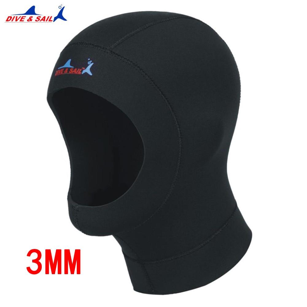 1 шт., Неопреновая шапочка для дайвинга, 3 мм