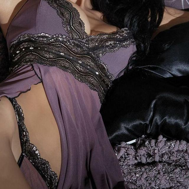 Gorąca bielizna erotyczna koronkowa bielizna nocna v seksowna koszulka Babydoll bielizna damska Bralette zestaw z majtkami intymna lenceria erotyka mujer