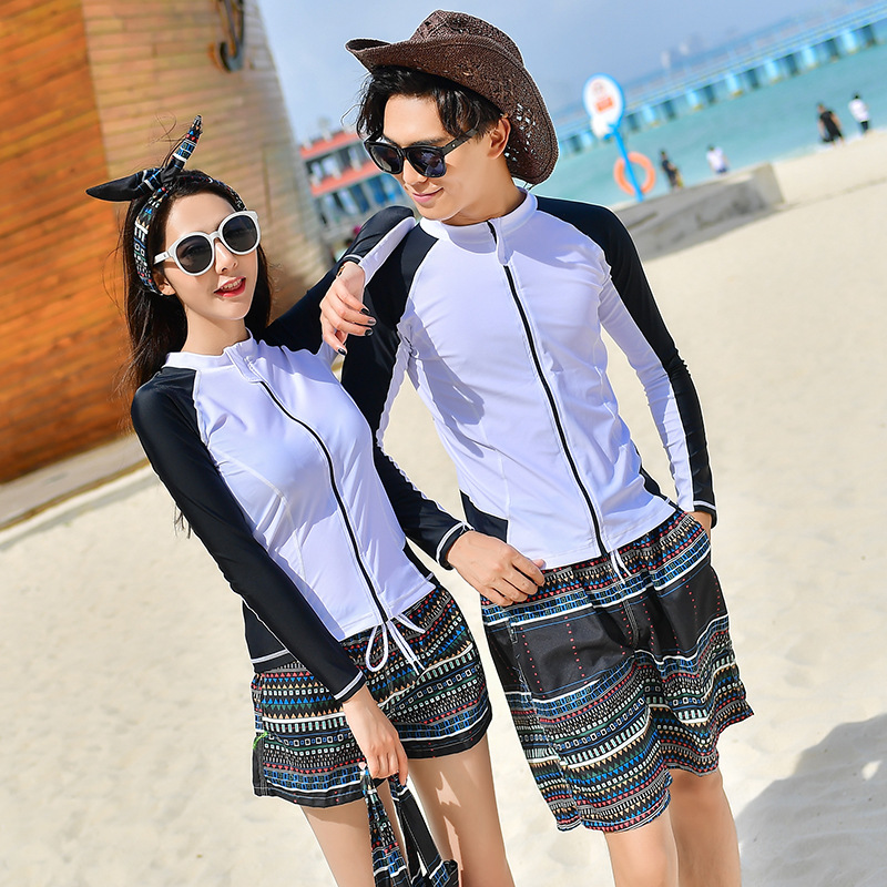 2018 New Style Men And Women Couples Beachwear Shorts Large Size Loose-Fit Quick-Dry Korean-style Casual Pants Holiday BEEKING