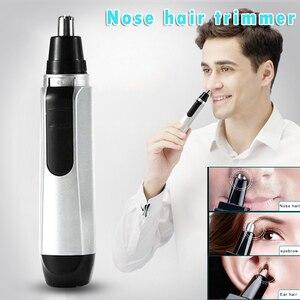 Электрический триммер для носа, машинка для стрижки волос в носу, на батарейках, Бритва для мужчин, дропшиппинг SMJ