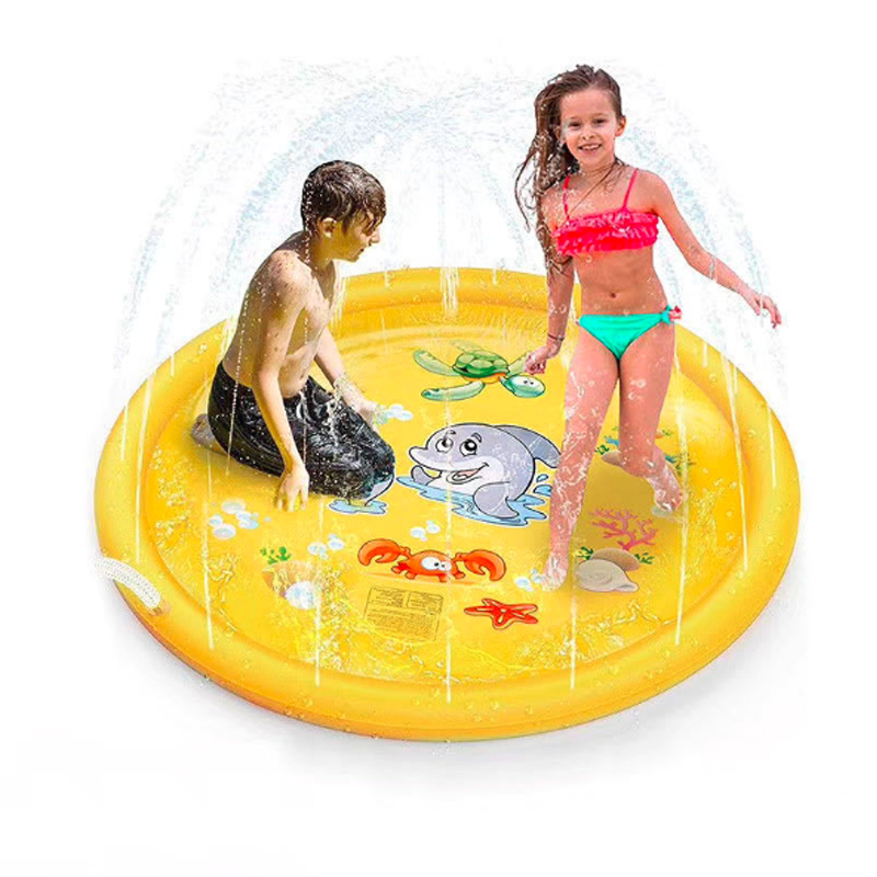 1m 1.5m 1.7m Inflatable PVC Water Park Water Spray Mat Outdoor play mat Parent-child Toys