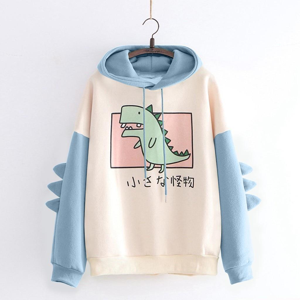 harajuku aesthetic bear anime hoodie women korean kawaii crewneck long sleeve oversized fall winter clothes kpop streetwear tops 14