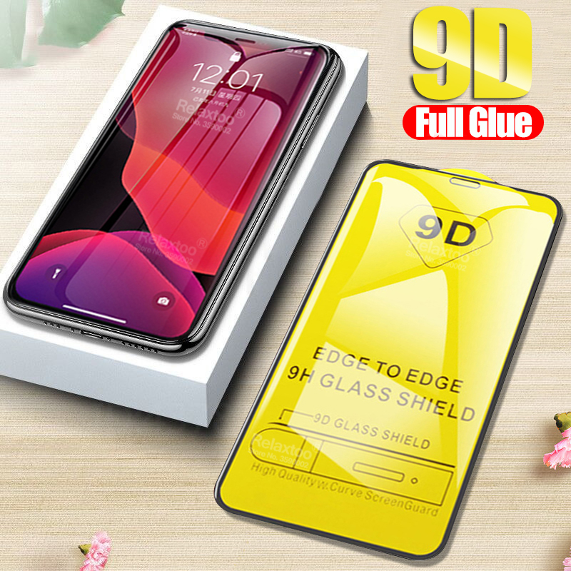 Full Glue Protective Glass For Iphone 11 Pro 2019 9D Curved Screen Protector On The For Iphone 6 7 8 Plus X Xs Max Xr Film Cover