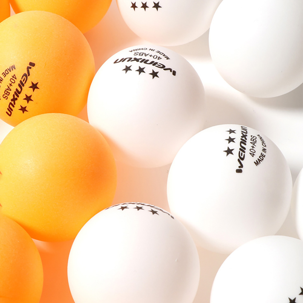 100 Pcs 40mm White Yellow Pingpong Ball Amateur Advanced Training Ball Table Tennis Balls Ping Pong Ball