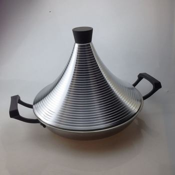 Non stick Tagine Taji pot stainless steel tower stew dry pot seafood high lid pan electromagnetic cooker Moroccan Tajine image