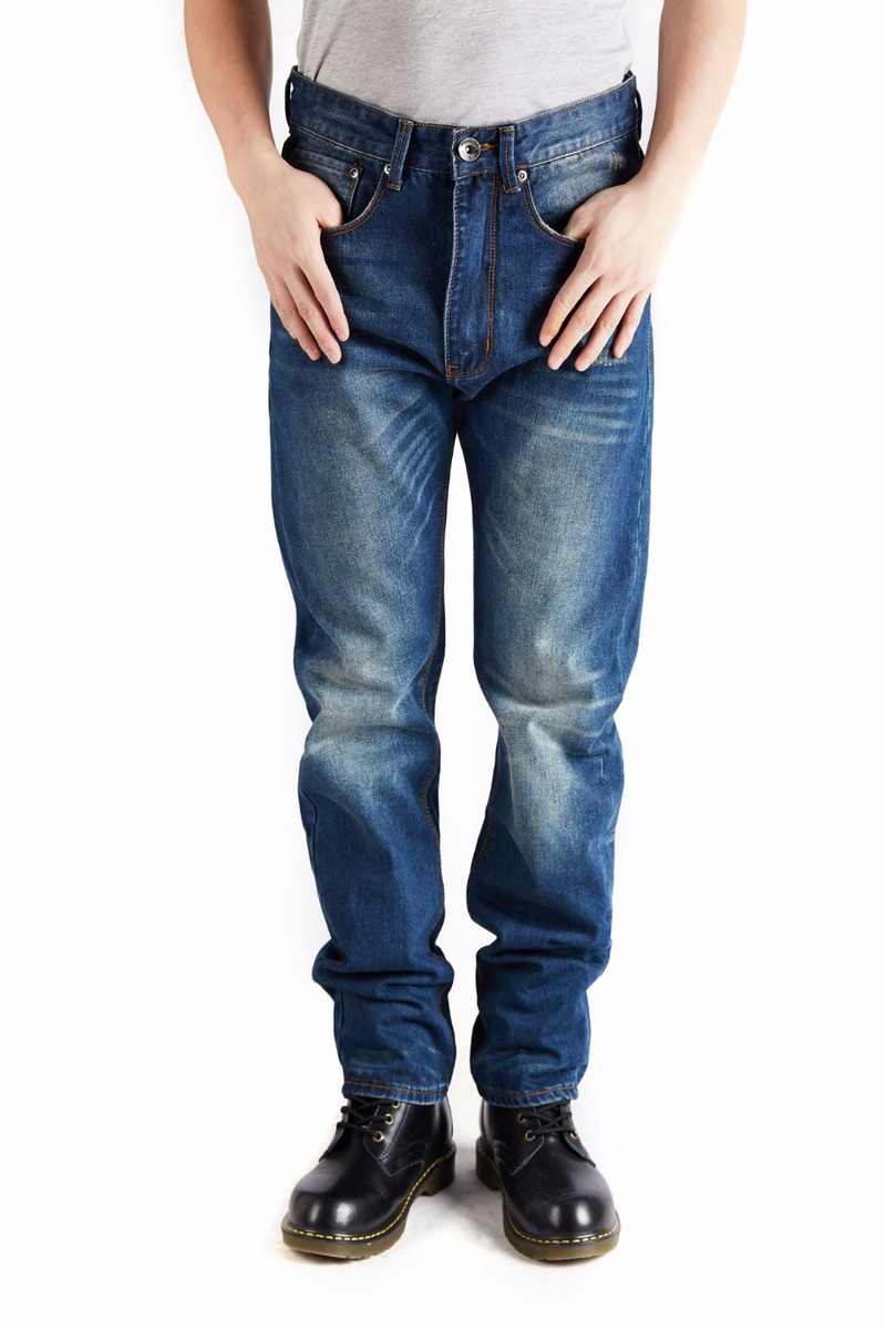 2020 vintage männer kleidung große größe 46 männer jeans blau mode trendy  männer jeans hosen lässig designer marke cowboy denim hosen