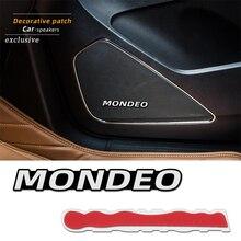 4 шт. 3D алюминиевый динамик, стерео динамик, значок, эмблема, наклейка для Ford Mondeo mk3 mk4 mk5, аксессуары, Стайлинг автомобиля