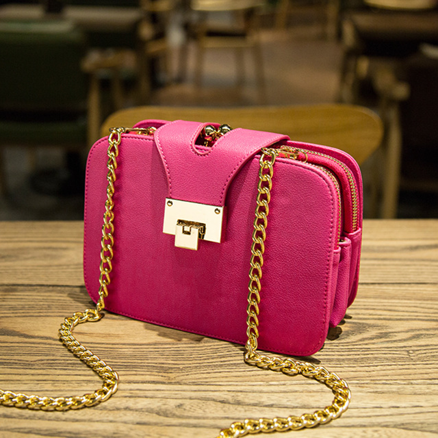 2019 New Women's Bag Double Zipper Simple Fashion Inclined Single Shoulder Bag