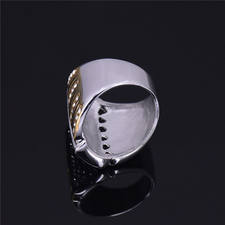 Three color plated finger ring fashion crystal jewelry titanium steel rings for women free shipping in Rings from Jewelry Accessories