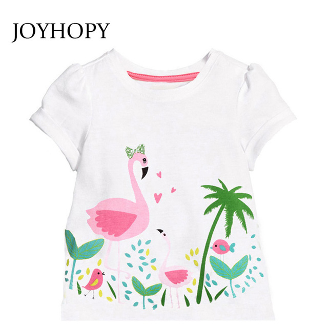 Kids Girl T Shirt Summer Baby Cotton Tops Toddler Tees Clothes Children Clothing Cartoon T-shirts Short Sleeve Casual Wear 2