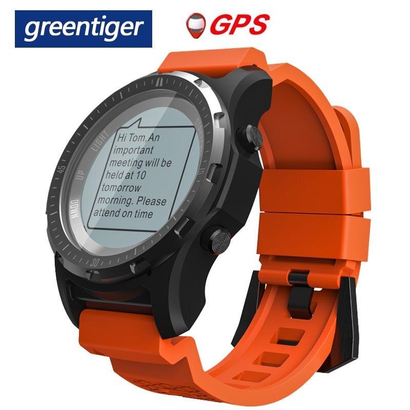 Greentiger S966 GPS Smart Watch Men Heart Rate Monitor Air Pressure Fitness Tracker Wristwatch Compass Altitude Sport Smartwatch Smart Watches     - AliExpress