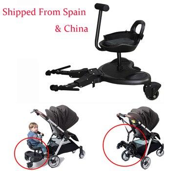 Cómodo cochecito para gemelos 2 en 1, placa de pie, cochecito de bebé, remolque, Pedal de Hermano, artefacto para niños
