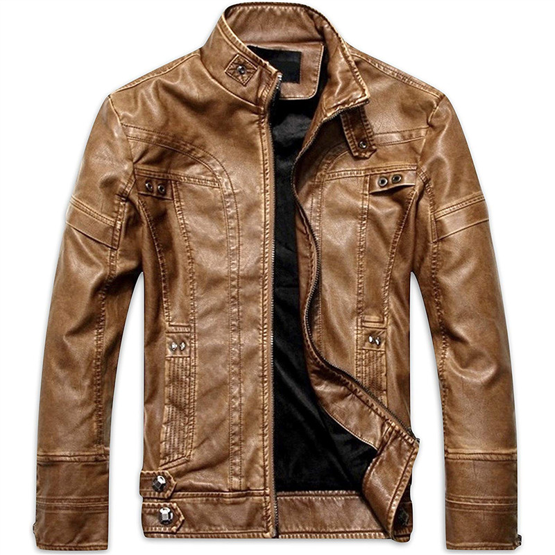 Mens Leather Jackets Autumn Winter Male Classic Motorcycle High Quality PU Leather Jacket Casual Jaqueta De Couro Masculin 5XL