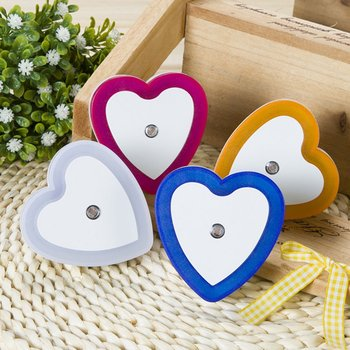 Heart Shape Wall Light Intelligent LED Induction Lamp Night Light Automatic Control Light Sensor Bedside Household Supplies image