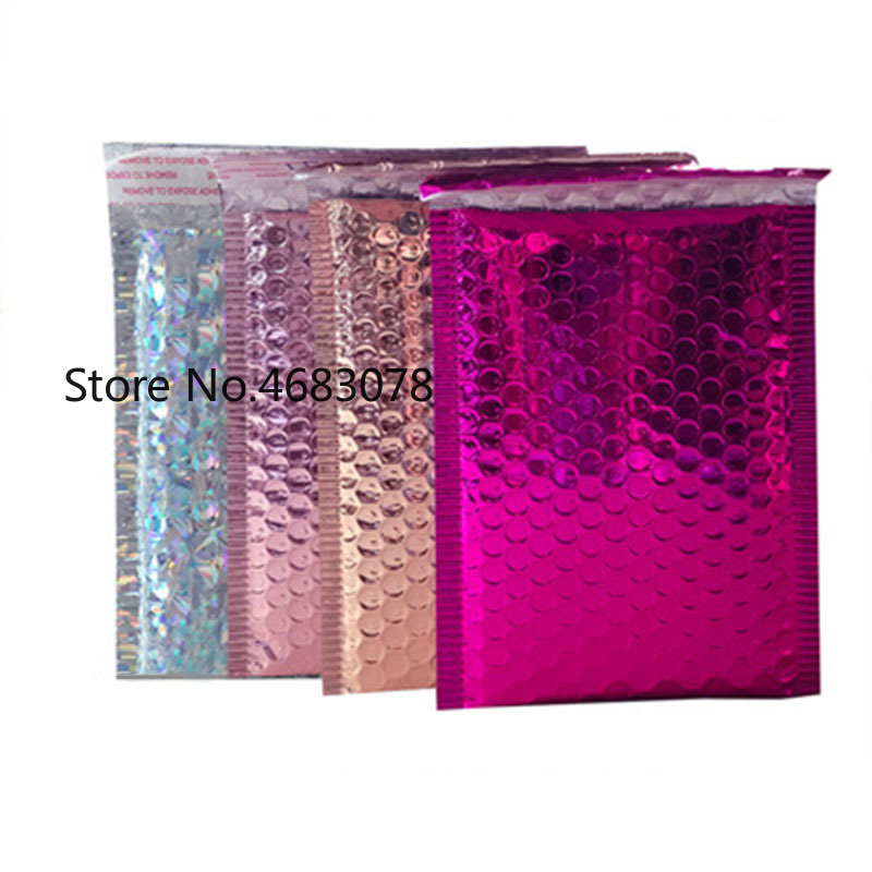 25pcs/lot 15*20cm+4cm Bubble Envelopes Bags Mailers Padded Shipping Envelope With Bubble Mailing Bag Business Supplies