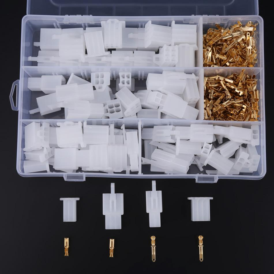 40 Sets(380 pcs) connector terminal set 2.8MM 2 3 4 6 Way Wire Connectors Housing Terminal Female And Male Kit Car Motorbike|Terminals| |  - title=