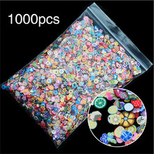 1 Pack Girls Toy 3D Fruit Flowers Feather Design Tiny Fimo Slices Polymer Clay DIY Make Up Beauty Nail Art Sticker Decorations(China)