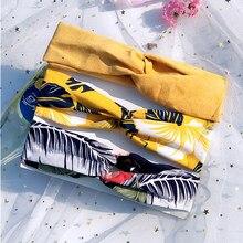 Acessórios para cabelo de 3 pçs, acessórios para cabelo, para meninas, turbante amarrado, macio, envoltório para cabeça