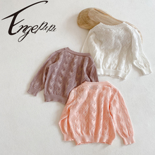 Cardigan Sweater Coat Spring Knitted Baby-Girl Summer Engepapa 0-3yrs Air-Conditioning-Shirt