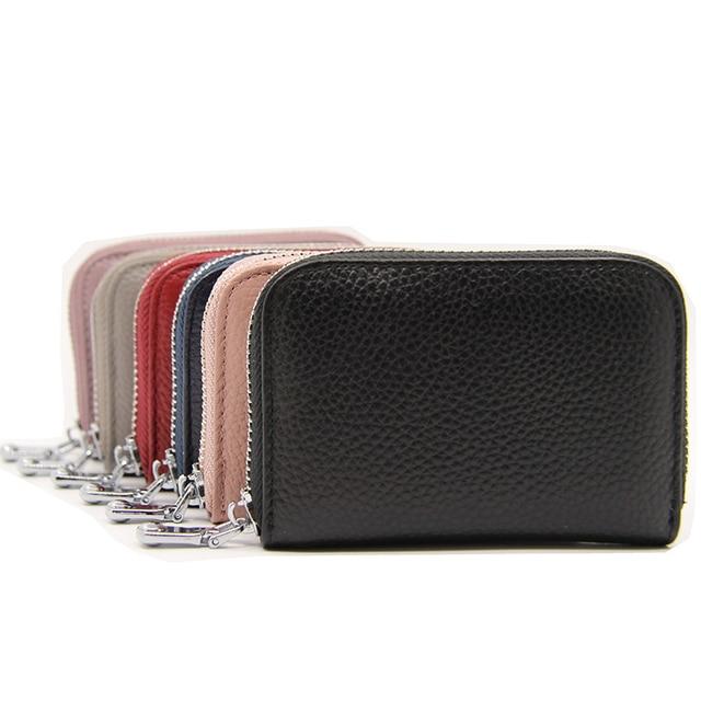 Rfid Genuine Leather Bank Credit Card Holder Wallet Men Women Business Creditcard Cover Case Protection Cardholder porte carte 4