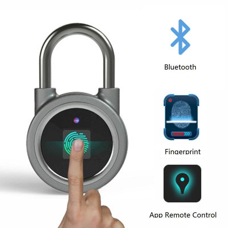 À prova dwaterproof água keyless impressão digital inteligente bloqueio app/desbloqueio de impressão digital anti-roubo cadeado fechadura da porta para android ios sistema gabinete