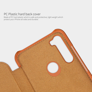 Image 5 - For Xiaomi Redmi Note 8 Pro / Note 8T Case NILLKIN QIN Classic Flip PU Cover Vintage Flip Leather Back Cover With Card Slot