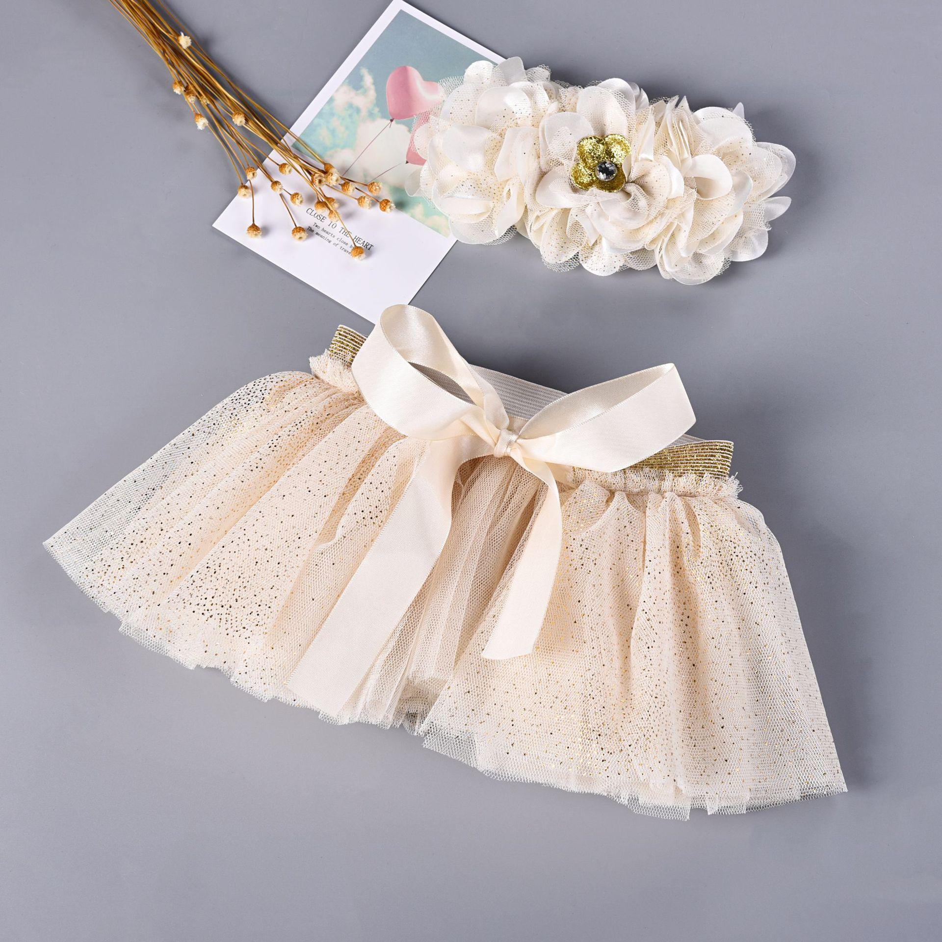 Baby Newborn Photograpghy Props Kids Children Baby White Tutu Skirt + Flower Hair Photos Props Newborn Photography Accessories