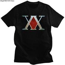 Винтажная Мужская футболка hunter x Модная хлопковая с коротким